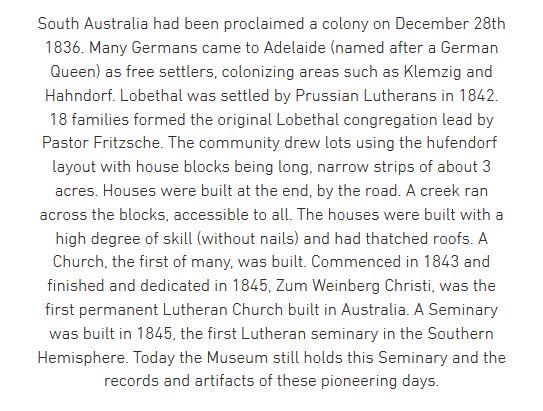 Lobethal history