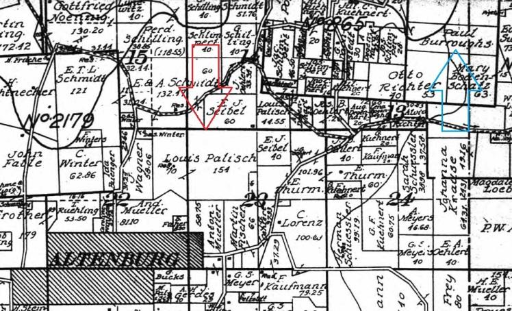 Louis Palisch land map 1915 Palisch Wunderlich