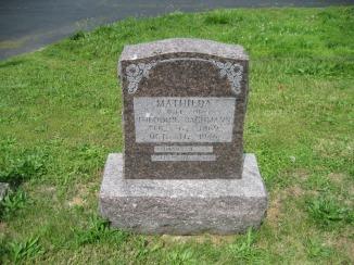 Mathilda Lorenz Bachmann gravestone Immanuel Perryville