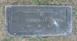 Rev. Christopher Drewes gravestone St. Trinity Cemetery St. Louis