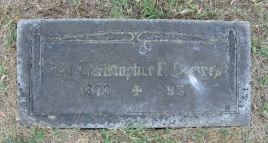 Rev. Christopher Drewes gravestone St. Trinity Cemetery St. Louis
