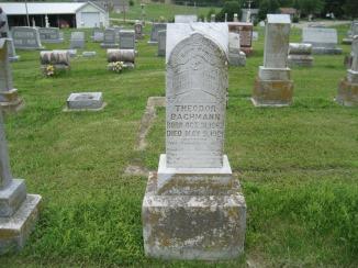 Theodore Bachmann gravestone Immanuel Perryville