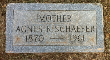 Agnes Schaefer gravestone Oklahoma City Fairlawn Cemetery