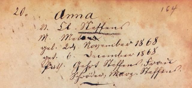 Anna Steffens baptism record Trinity Altenburg