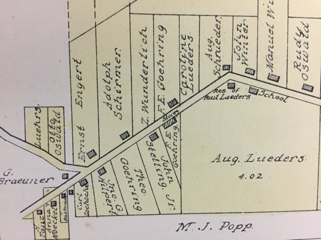 F.E. and Theodore Goehring property 1915 land map