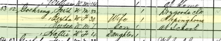 Ferdinand Goehring 1880 census St. Louis