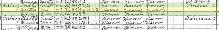 Ferdinand Goehring 1900 census Frohna