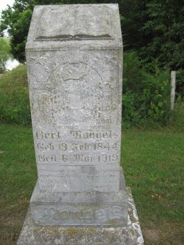 Gerd Mangels gravestone Concordia Frohna