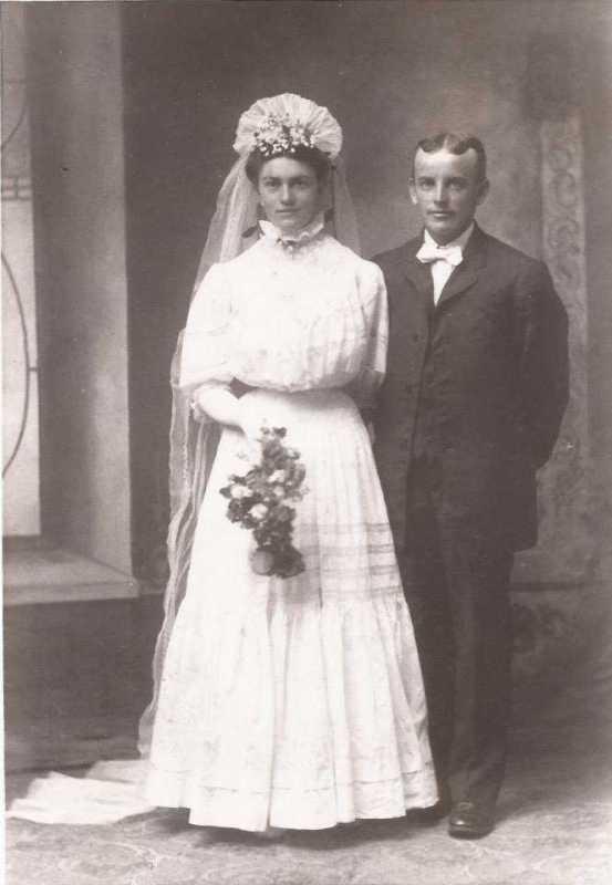 Gottlieb and Clara Buettner Boxdorfer wedding