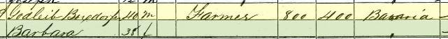 Gottlieb Boxdorfer 1860 census Bois Brule