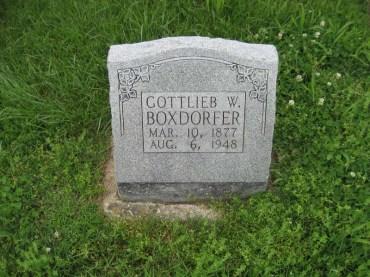 Gottlieb W Boxdorfer gravestone Immanuel Perryville