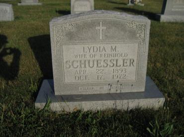 Lydia Schuessler gravestone St. Paul Wittenberg