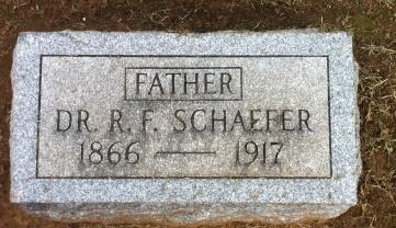 Rudolph Schaefer gravestone Oklahoma City