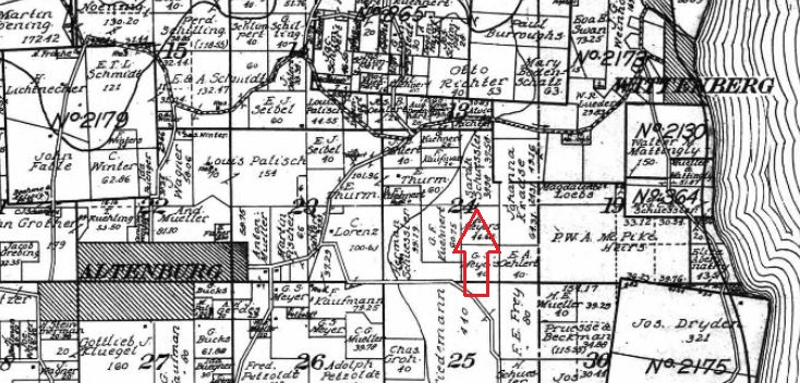 Sarah Schuessler land map 1915