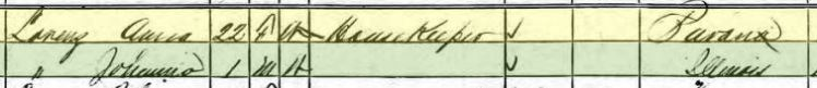 Traugott Lorenz 1870 census 2 Collinsville IL
