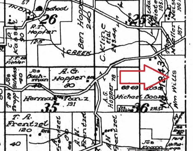 William Wills land map 1915
