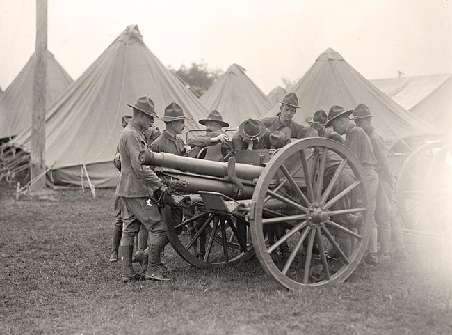 World War One artillery instruction