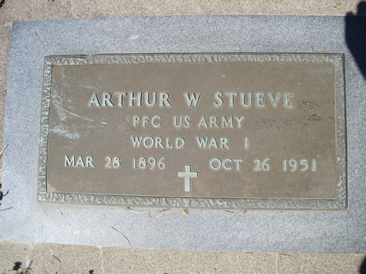 Arthur Stueve military plaque