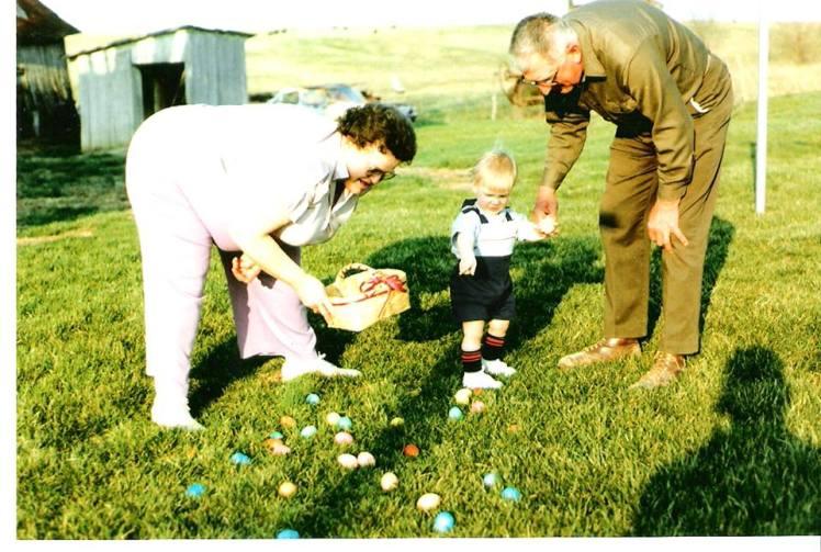Clayton Erdmann with Kasten grandparents