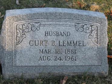 Curt Lemmel gravestone New St. Marcus St. Louis
