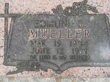 Edmund Mueller gravestone Concordia Frohna