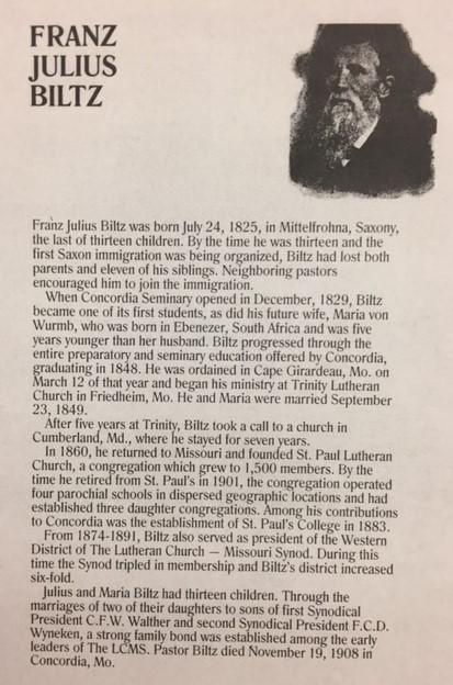 Franz Julius Biltz bio