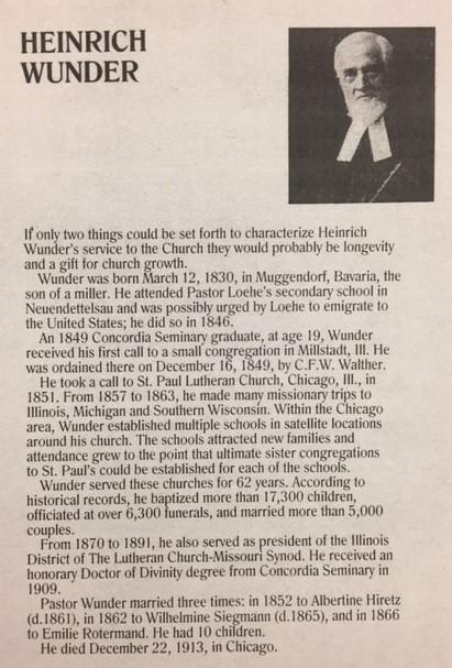 Heinrich Wunder bio