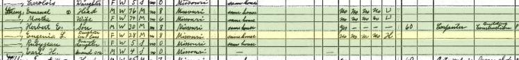 Herbert Lorenz 1940 census Farrar MO