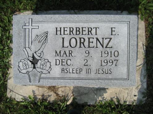 Herbert Lorenz gravestone Salem Farrar