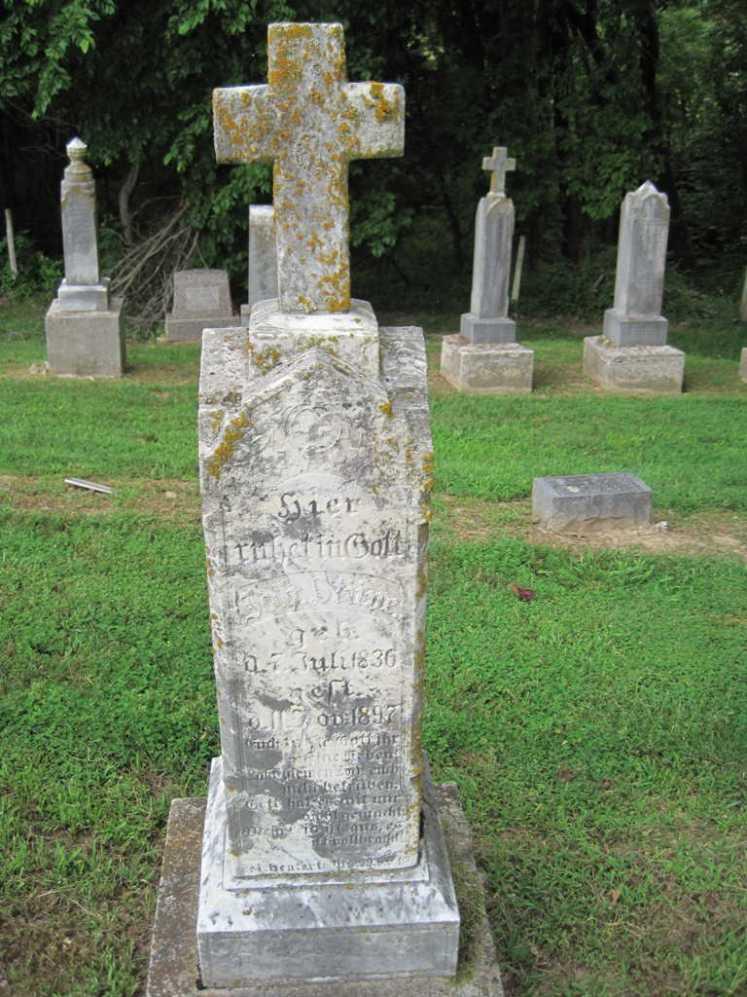 Johann Stueve gravestone Concordia Frohna