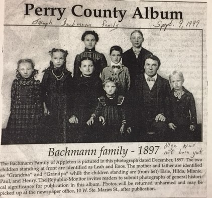 Joseph Bachmann family 1897