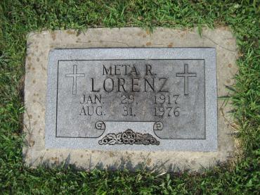 Meta Versemann Lorenz gravestone Salem Farrar