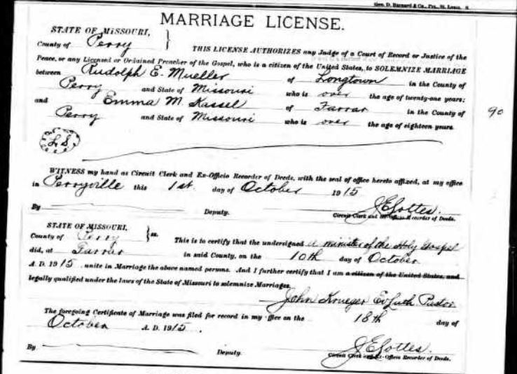 Mueller Kassel marriage license
