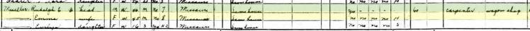 Rudolph Eugene Mueller 1940 census Longtown MO