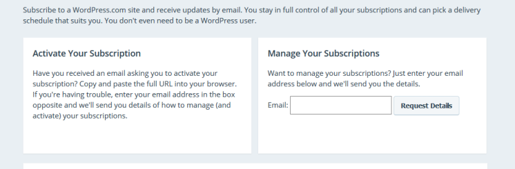 WordPress manage subscriptions 2