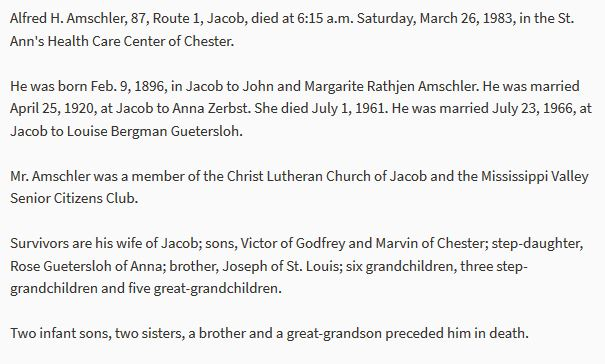 Alfred Amschler obituary