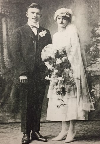 Alfred and Anna Amschler wedding