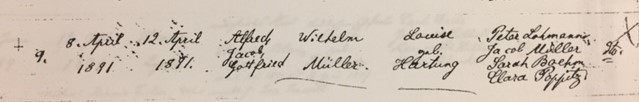 Alfred Jacob Gottfried Mueller baptism record Trinity Altenburg