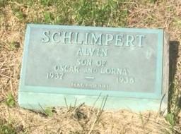 Alvin Schlimpert gravestone Trinity Altenburg MO