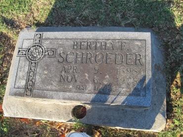 Bertha Schroeder gravestone Immanuel Altenburg