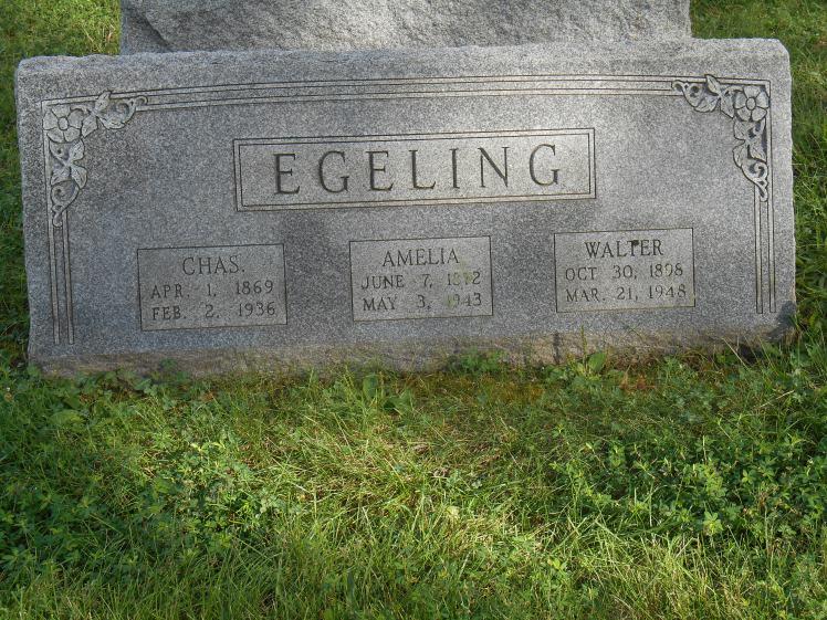 Charles and Amalia Egeling gravestone St. Trinity St. Louis