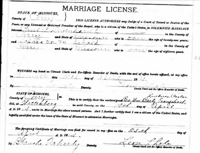 Degenhardt Sebald marriage license