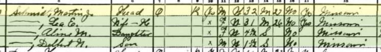 Delbert Schmidt 1930 census Altenburg
