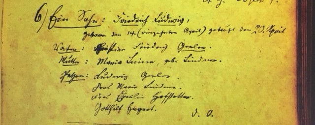 Friedrich Ludwig Gerler baptism record Immanuel Altenburg MO