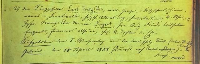 Fritsche Engert marriage record Immanuel Altenburg