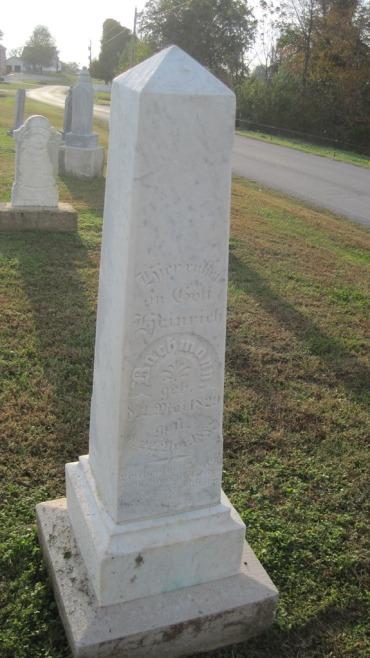Heinrich Bachmann Tombstone