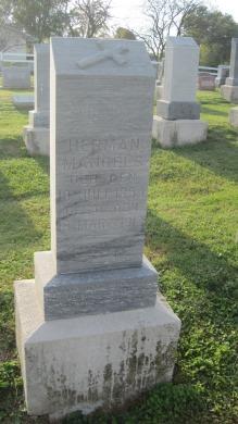 Herman Mangels gravestone Salem Farrar