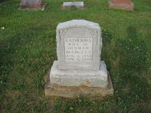 Katharine Mangels gravestone Salem Farrar