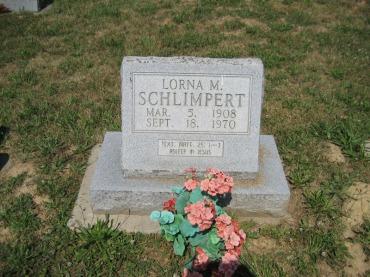 Lorna Schlimpert gravestone Trinity Altenburg MO