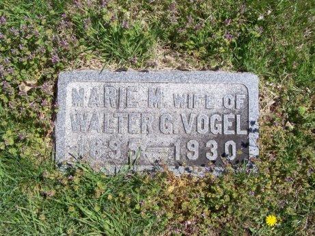 Marie Vogel gravestone Topeka Cemetery